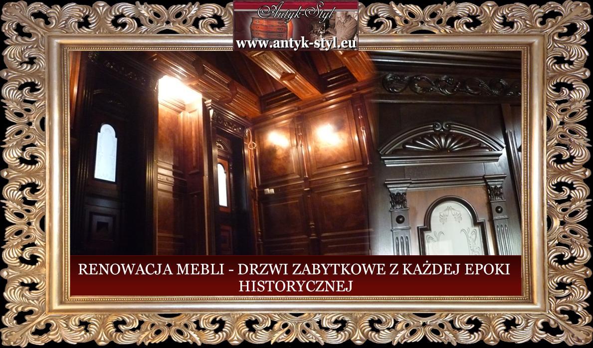 Antyk Styleu Meble Angielskie Renowacja Drzwi Zabytkowe